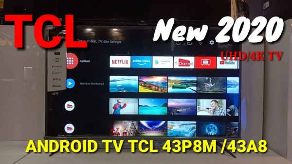 TCL 43 inch Smart LED TV - Android 9.0 - 4K Ultra HD - Google Voice/Netflix/YouTube - WiFi/HDMI/USB/Bluetooth Dolby Sound (Model : 43A8)