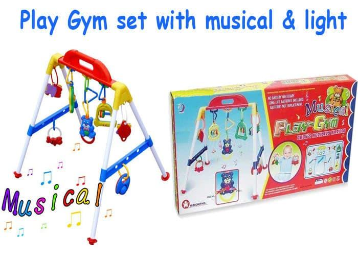 Baby Musical Play Gym / Musik Mainan Rattle Bayi Anak Playgym Premium Promo By Bobo Baby Shops.