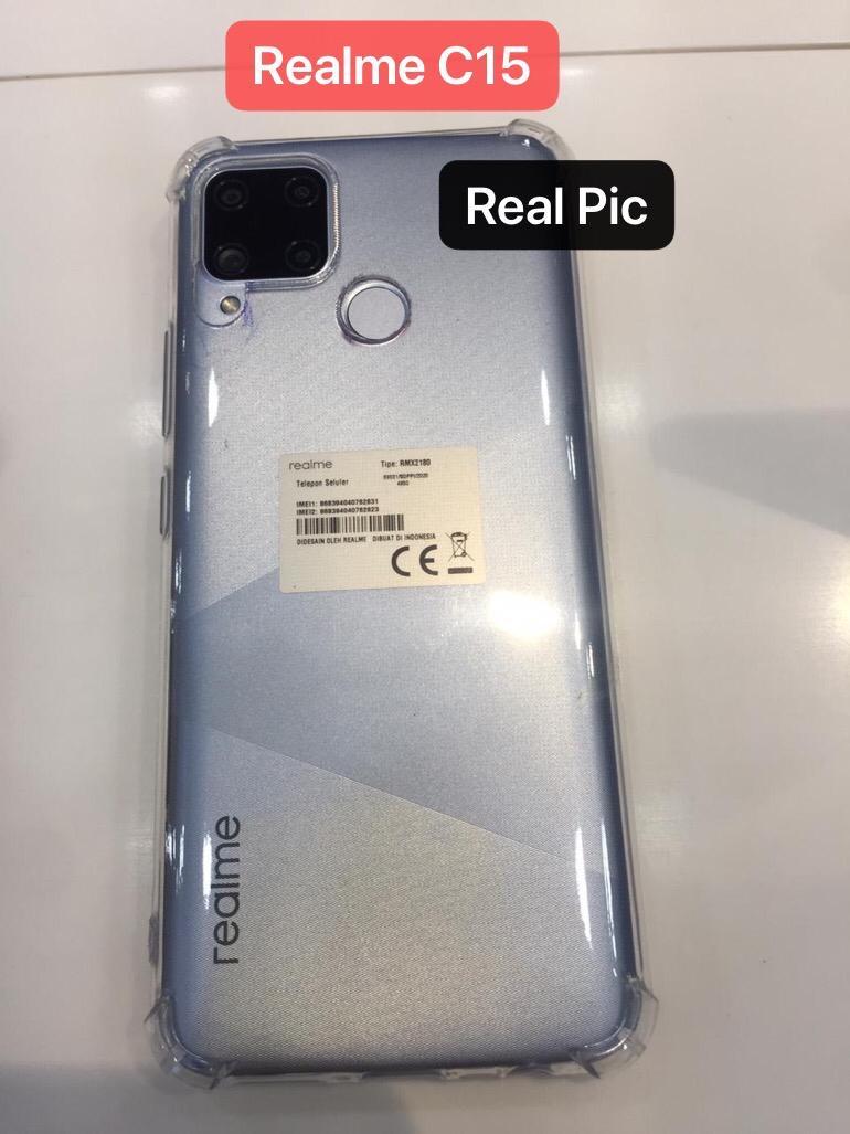 Case Realme C15 Clear Anti Crack Cover Silikon Sarung Tpu Casing Handphone Soft Case Lazada Indonesia