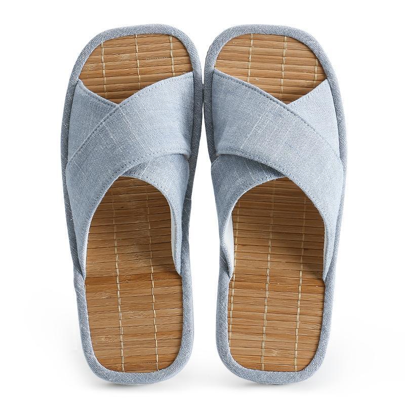 OKSOO kain art sandal untuk wanita perempuan bambu tikar rumah dikontrak keren nyaman dalam ruangan sandal