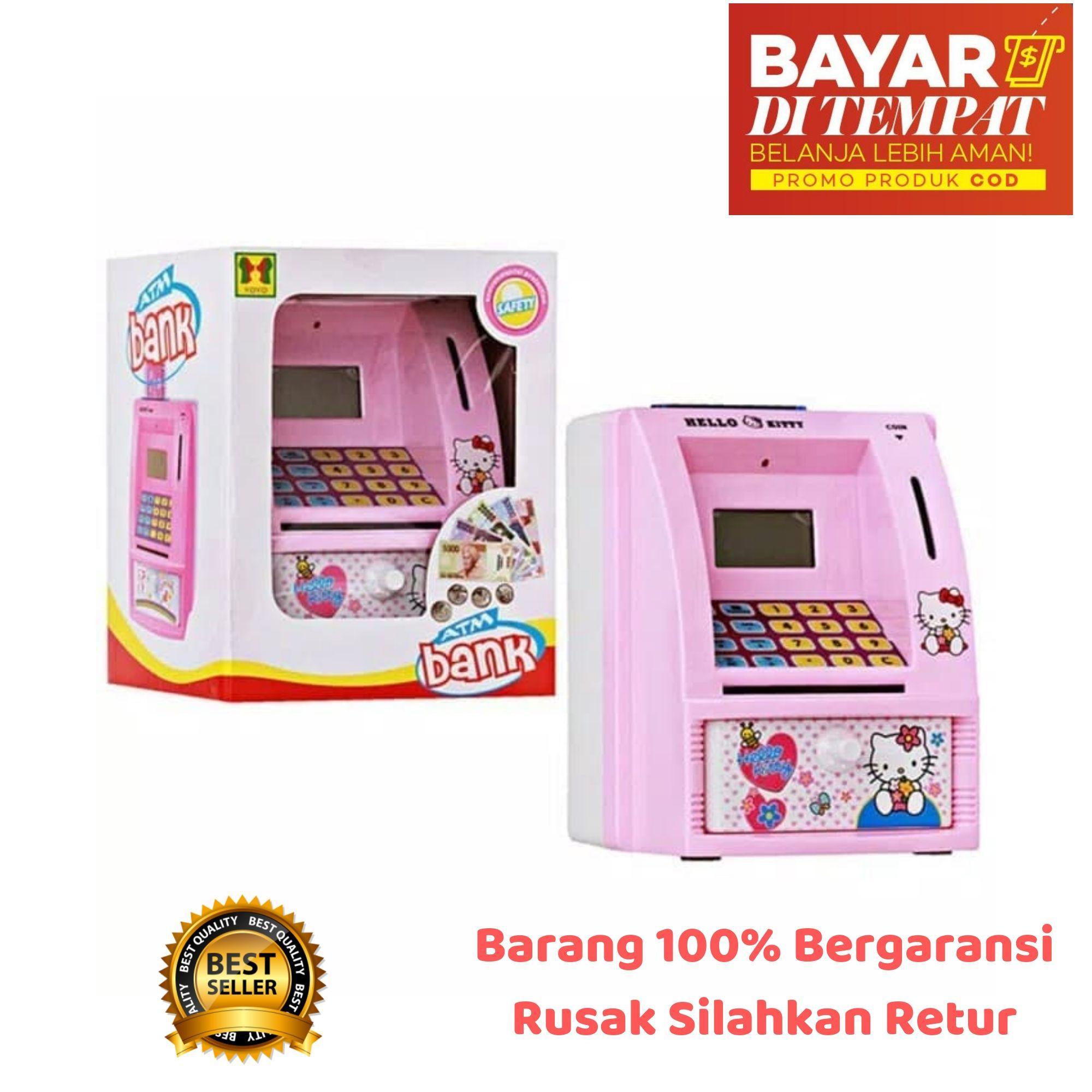 Agenmainan Mainan Anak Celengan ATM Mini Bank Menabung Mesin Hitung Saldo Uang Bahasa Indonesia / mainan anak / mainan edukasi / mainan edukatif / mainan perempuan / mainan cewek / mainan cowok / mainan laki laki / mainan atm / mainan uang