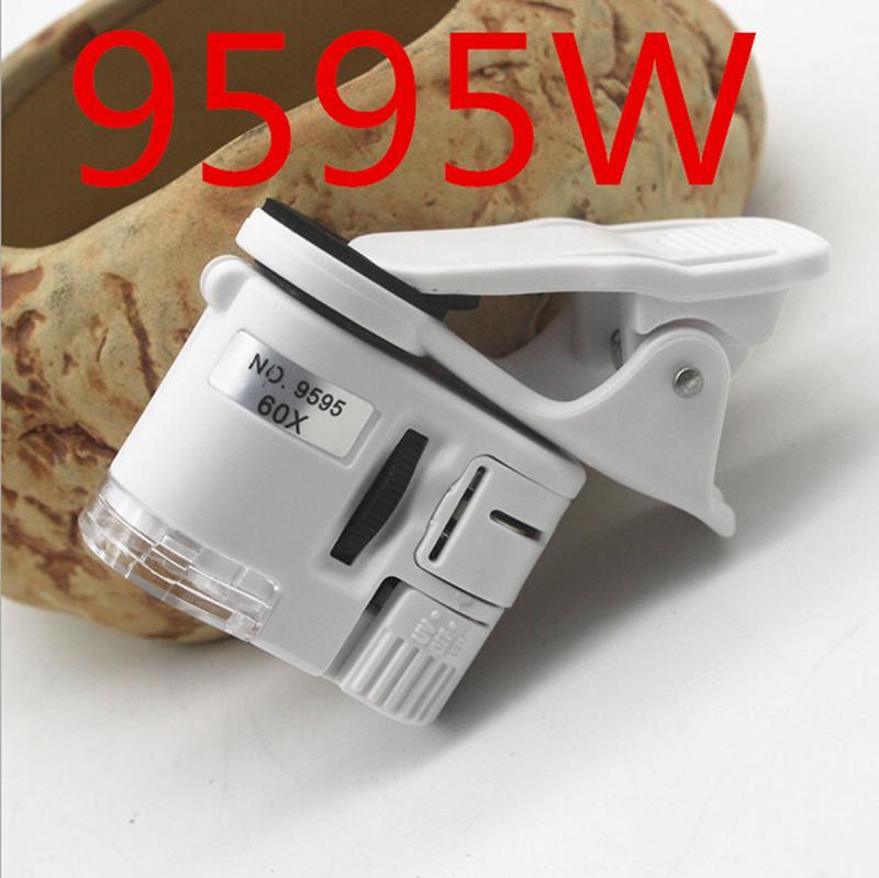 Giá Hengguang1 1 60X Di Động Điện Thoại Kính Hiển Vi Ống Kính Zoom Micro Kẹp Camera Có Đèn Led