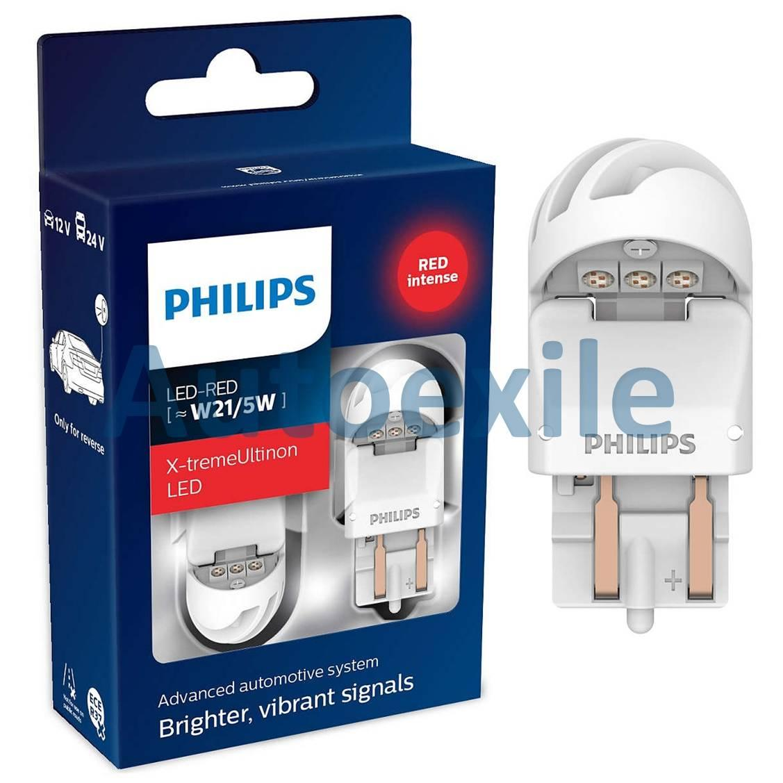 Philips Xtreme Ultinon LED Gen2 T20 W21/5W Red Merah Lampu Rem Mobil