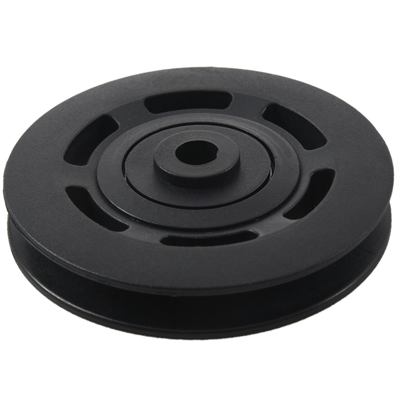 95mm Black Bearing Pulley Wheel Cable Gym Equipment Part Wearproof