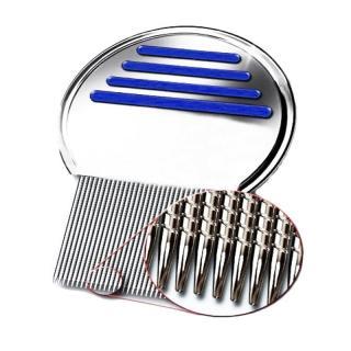 Sisir Kutu Ajaib Bahan Metal Rambut Efektif Hilangkan Kutu dan Telur Awet Tahan Lama - 1 Pcs (Stainless Steel) thumbnail