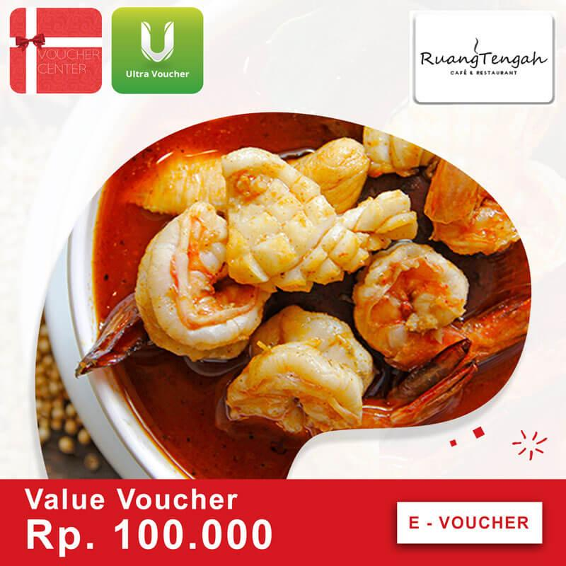 Ruang Tengah Voucher Rp 100.000 - Digital Code By I-Voucher Center.