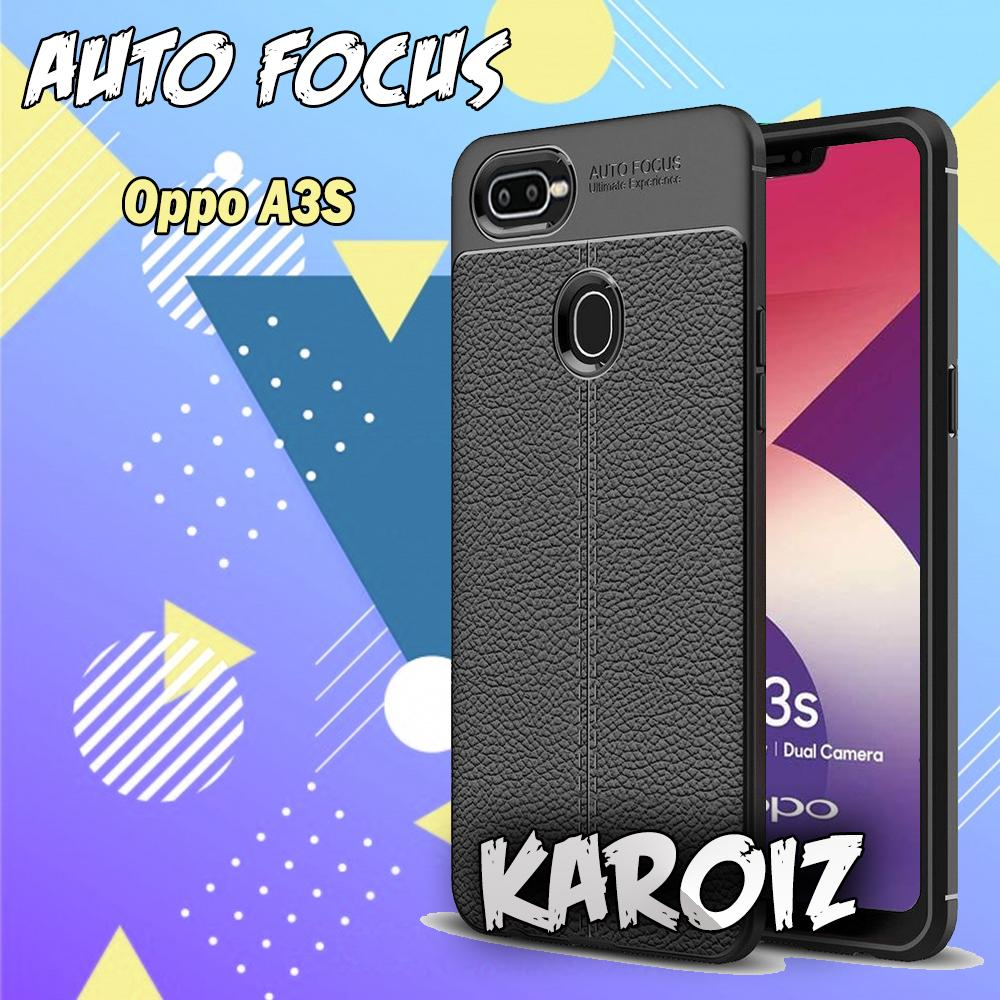 Case Auto Focus Oppo A3S 2018 / Realme C1 Leather Experience Softcase Jelly Silicon