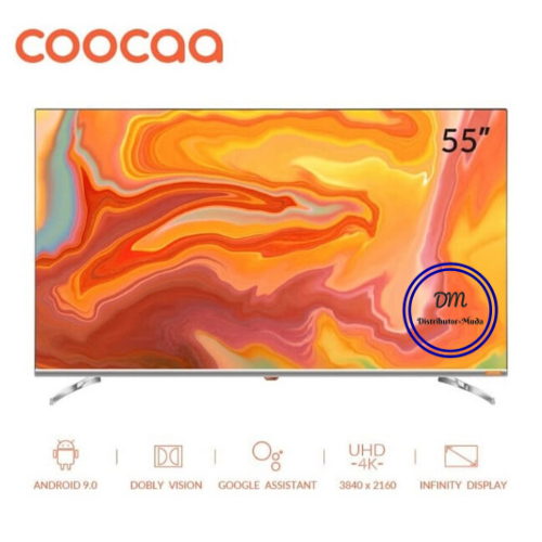 COOCAA 55 inch 4K Android 9.0 Smart LED TV- Dolby Vision-Wifi (55S6G)