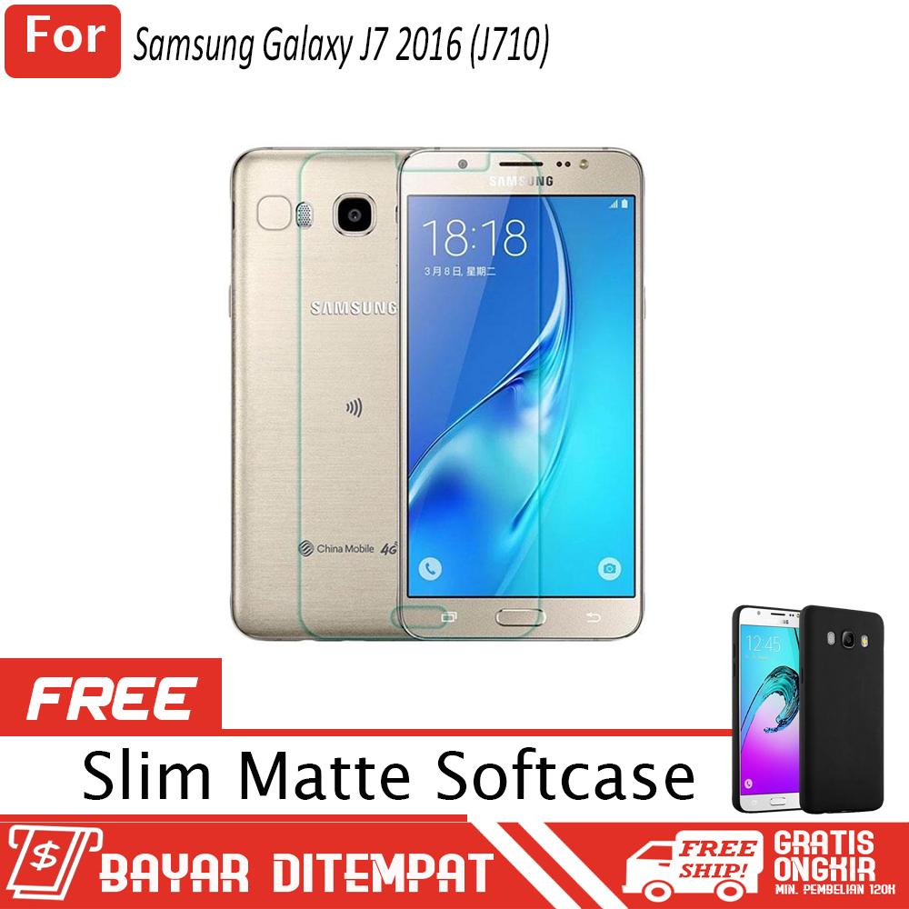 Samsung Galaxy J7 2016 ( J710 ) Anti Gores Kaca / Tempered Glass Kaca Bening + FREE Softcase Babby Skin