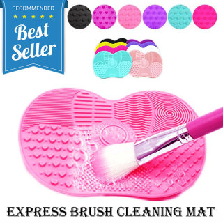 Rinse Pembersih Kuas Make Up Silicone Pad Cleaning Brush Cleaner Tool With Suction Cup Silikon Mat Design Portable Portabel Aksesoris Makeup Cosmetic Beauty Make Up Accessories Fleksibel Bersih Efektif s4424 - Pink thumbnail