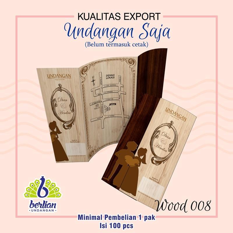 Blangko Kartu Undangan Pernikahan Murah Series Wood 008 Embos By Undangan Berlian.