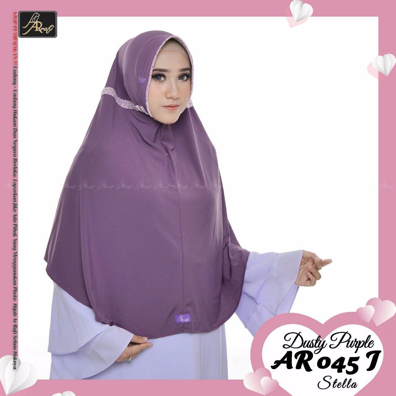 hijab instan Arrafi Talita Jumbo B (warna Dusty Purple) Ar45J jilbab kerudung syari jumbo bergo khimar