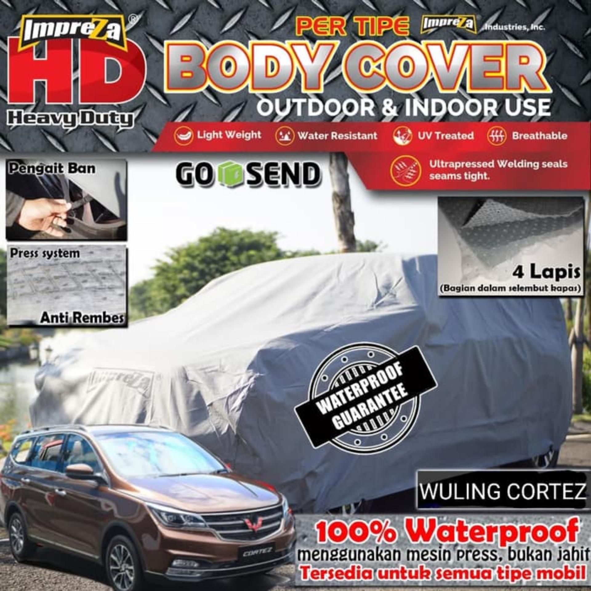 IMPREZA HD Wuling Cortez Car Body Cover 100% WATERPROOF - EMPAT LAPIS