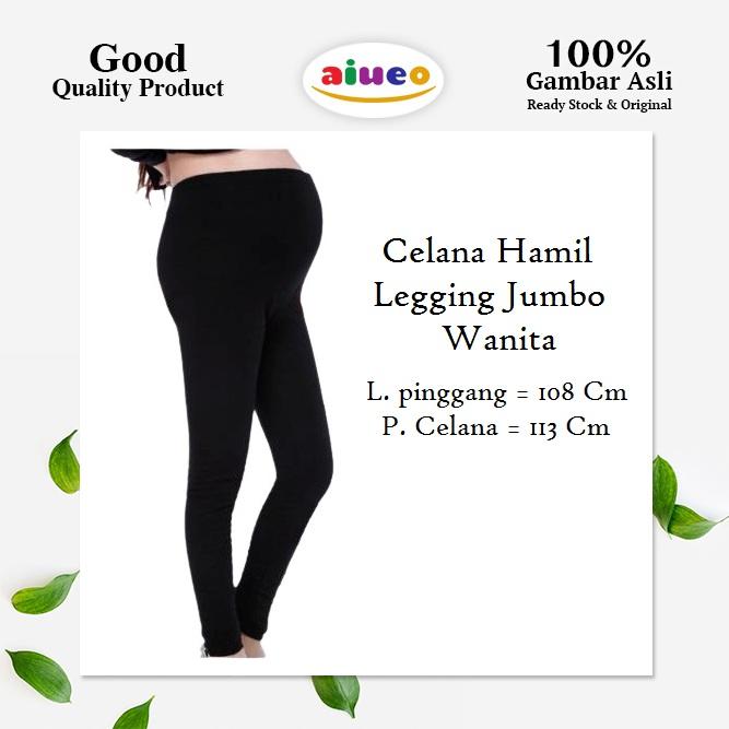 Celana Legging Hamil Ukuran Jumbo Spandex Jersey Import Murah Lazada Indonesia