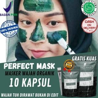 PERFECT MASK 10X PAKAI Masker Wajah Terbaik - Membantu Menghilangkan Komedo - Wajah Berminyak - Mengecilkan Pori-Pori - Perfect Mask Original 100% By HEALTY CLINIC ZONE thumbnail