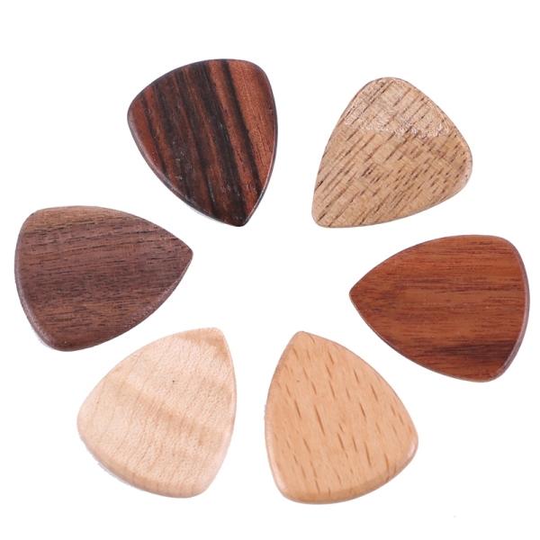 New 6Pcs Solid Wood Guitars Picks Plectrums Picks Finger Guitarra Picks for Musical Instrument Guitar Accessories Malaysia