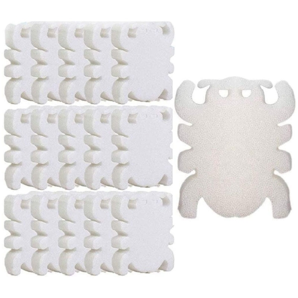 50Pcs Pool Filter Oil Absorbing Scum Sponge for Hot Tub Spa Cleaning Foam Sponge Spider Shape Absorb Sludge Dirt Scum