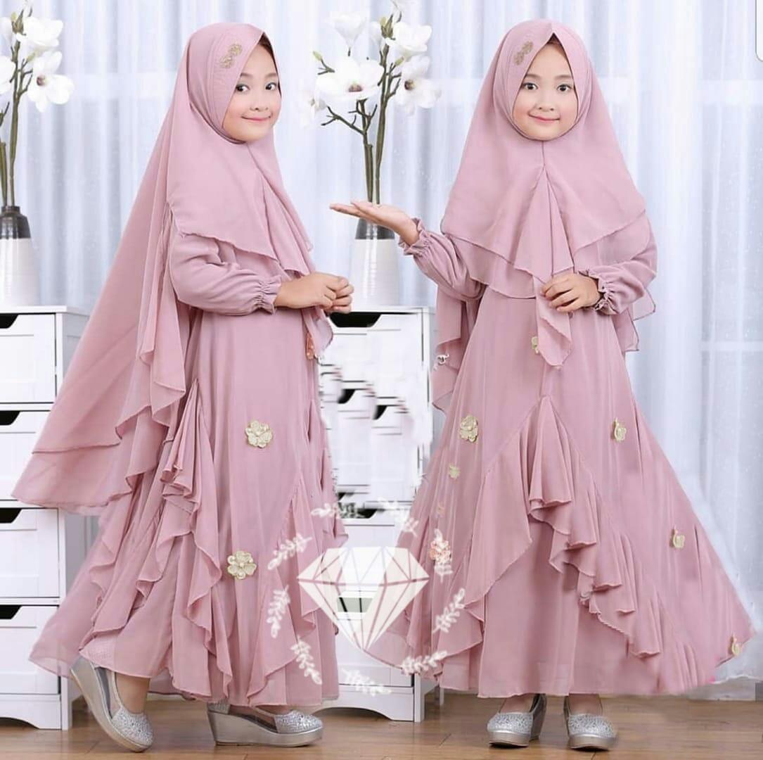 Honeyclothing Gamis Anak Kaylia / Dress Muslim Anak / Dress Anak Perempuan / Baju Muslim Anak