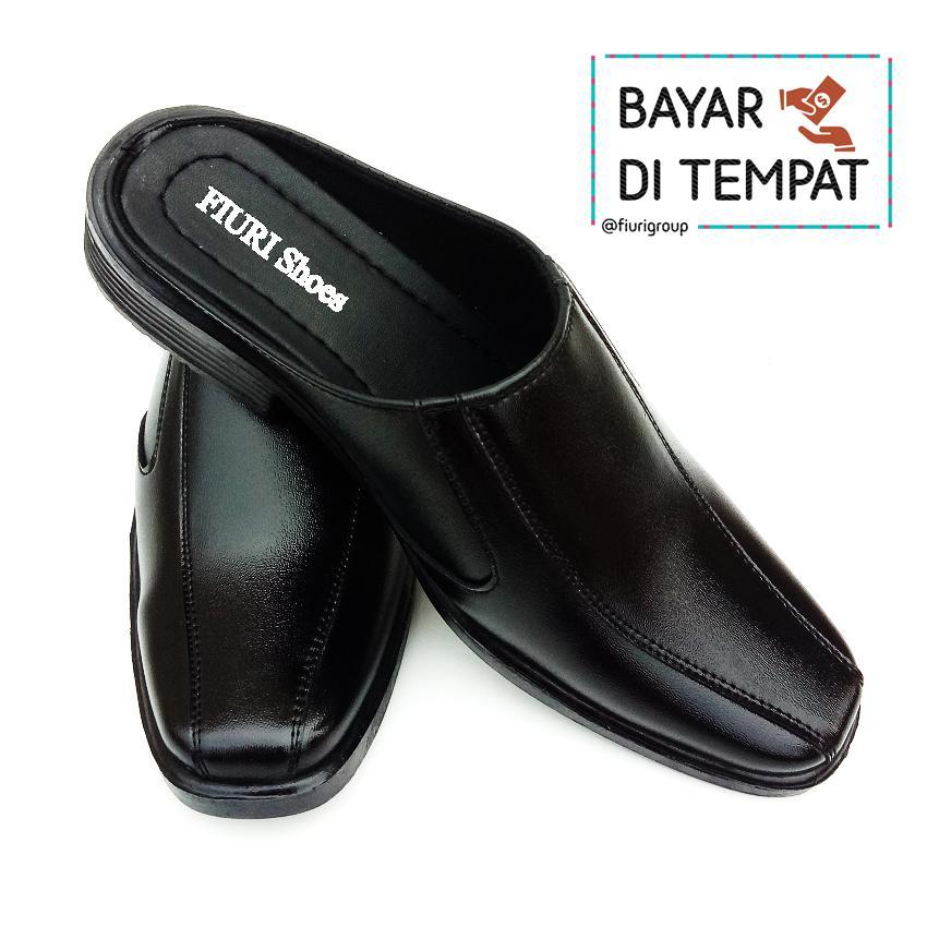 FIURI BJ6 - Sepatu Pantofel Pria Selop Polos - Sepatu Formal Pria Slop  Polos - Sepatu 74d99784b4
