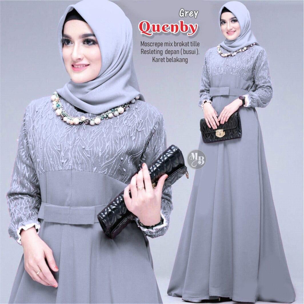 Baju Gamis Quenby / Gamis Murah Bagus / Gamis Wanita Terbaru / Gamis syari  / Gamis kondangan / Gamis modern / OOTD Gamis / Baju Wanita Muslim Terbaru