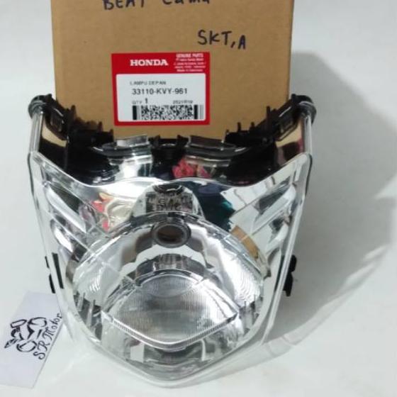 ➱ reflektor refektor lampu depan head lamp beat lama karbu original ➺