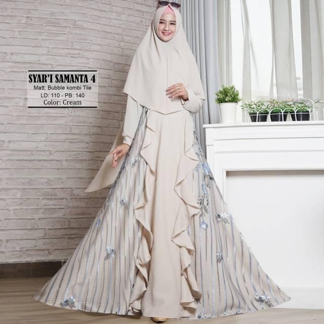 Muslim Wanita Busui Jumbo Hijaber Jilbab - Syarie Pesta Wisuda Premium Mewah Elegan .