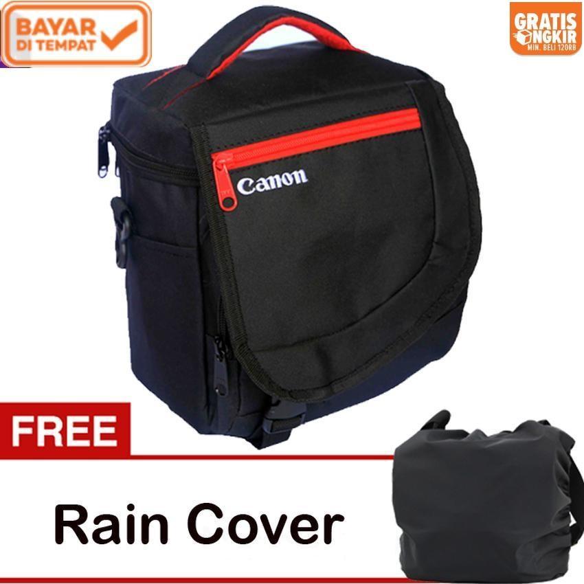 Canon Tas Kamera DSLR Mirrorless Selempang Kotak Gratis Jas Hujan (Rain  Cover) Kode K f89152b00f