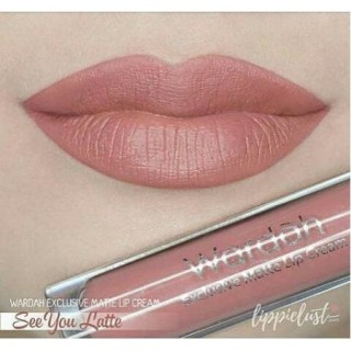 LIP CREAM WARDAH EXCLUSIVE MATTE NO. 3 SEE YOU LATTE thumbnail