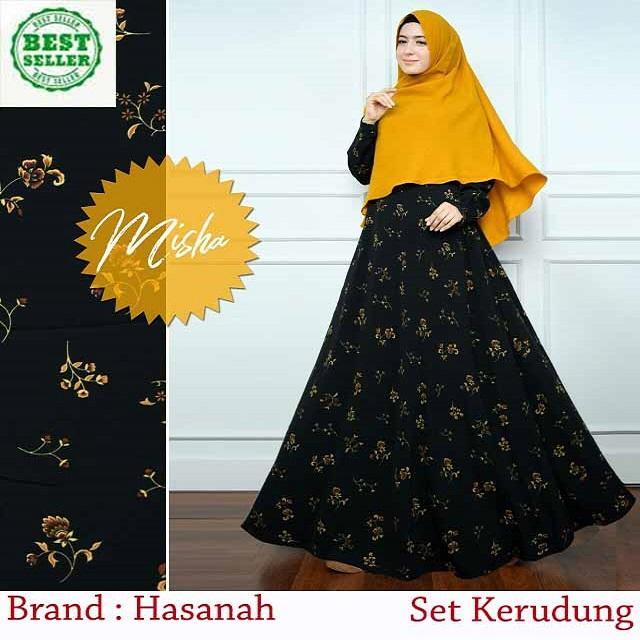 Dwita Mode/Pakaian Muslim Wanita/Baju Gamis / Syari'i/ Bahan Monalisa