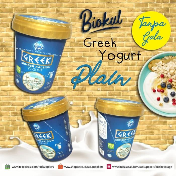 Biokul Greek Yogurt Plain 473ml, Best Product, Tanpa Gula Tambahan!