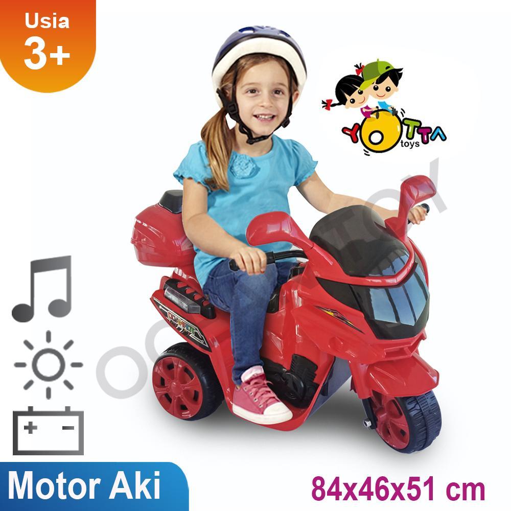 Mainan Motor Aki / Khusus Jabodetabek / Motor Aki Tornado / Ride On / Include Aki Dan Charger / Mainan Anak Laki Dan Perempuan By Ocean Toy.