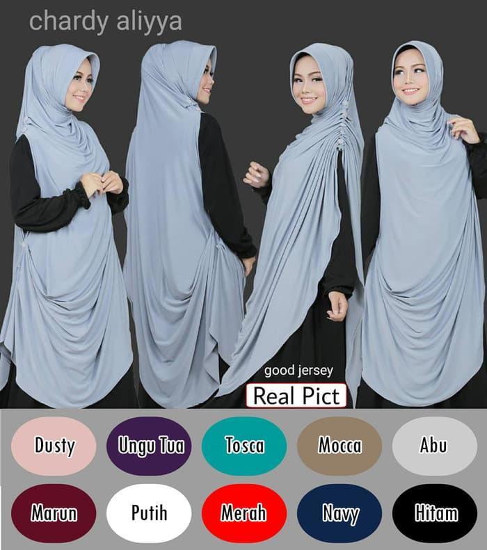 jilbab / kerudung / hijab Khimar Chardy/Cardi Aliyya
