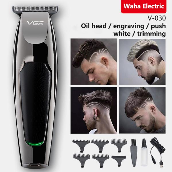 Jiuch VGR-030 Hair Trimmer Retro Oil Head Electric Clipper USB Hair Clipper Score Gradient Hair Salon Fader Hair Cutting Machine Hair Score Gradient Hair Salon Fader Hair Styling Tool Fast & Safe Trimmer