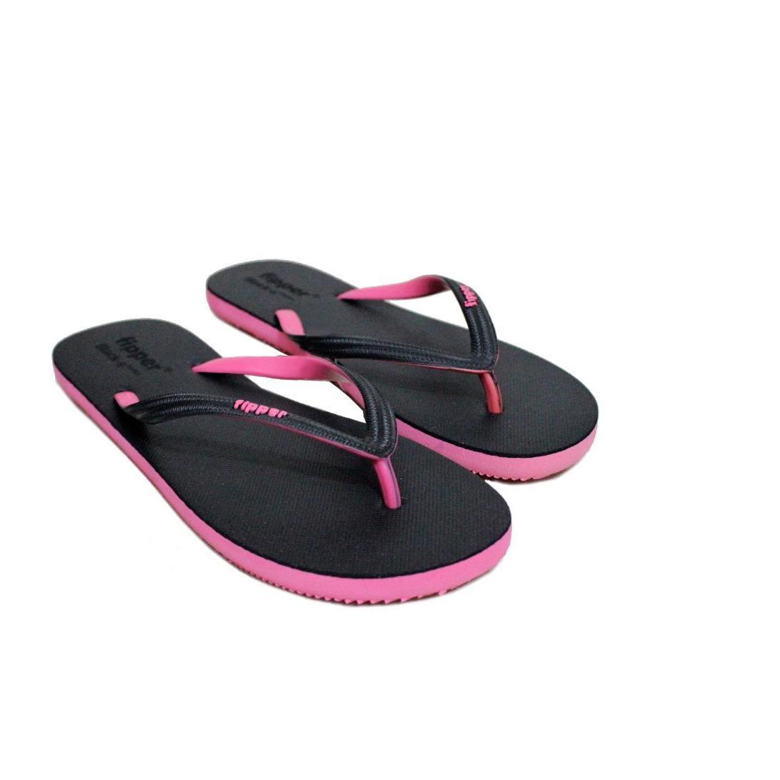 627272b99 Sandal Fipper Black Series S   Sendal Jepit   Sendal Pantai Black Pink