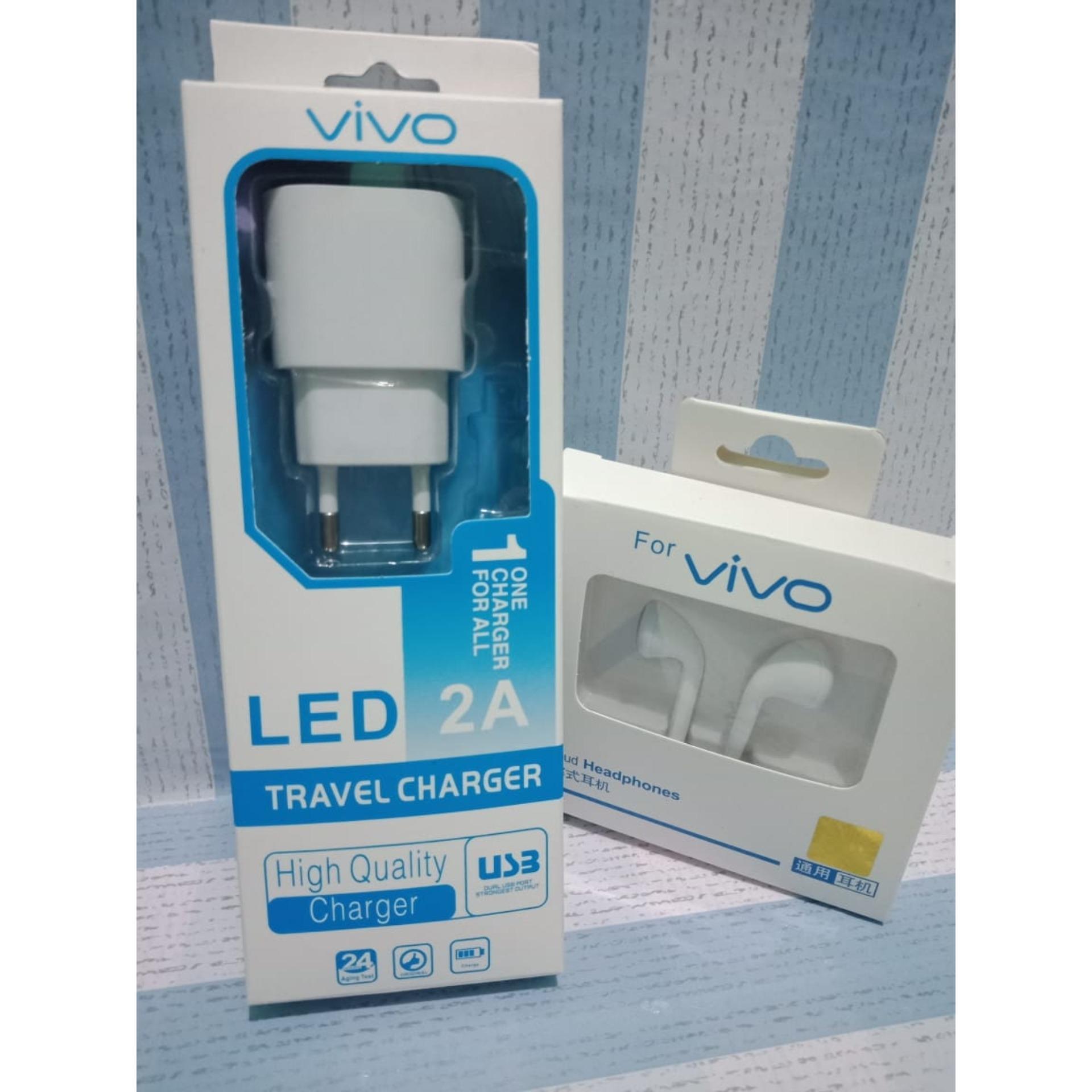 Terbaru Casan Vivo LED Cas Vivo Carger Vivo Charger Vivo Gratis Headset Vivo Hedseat Vivo - LLS89