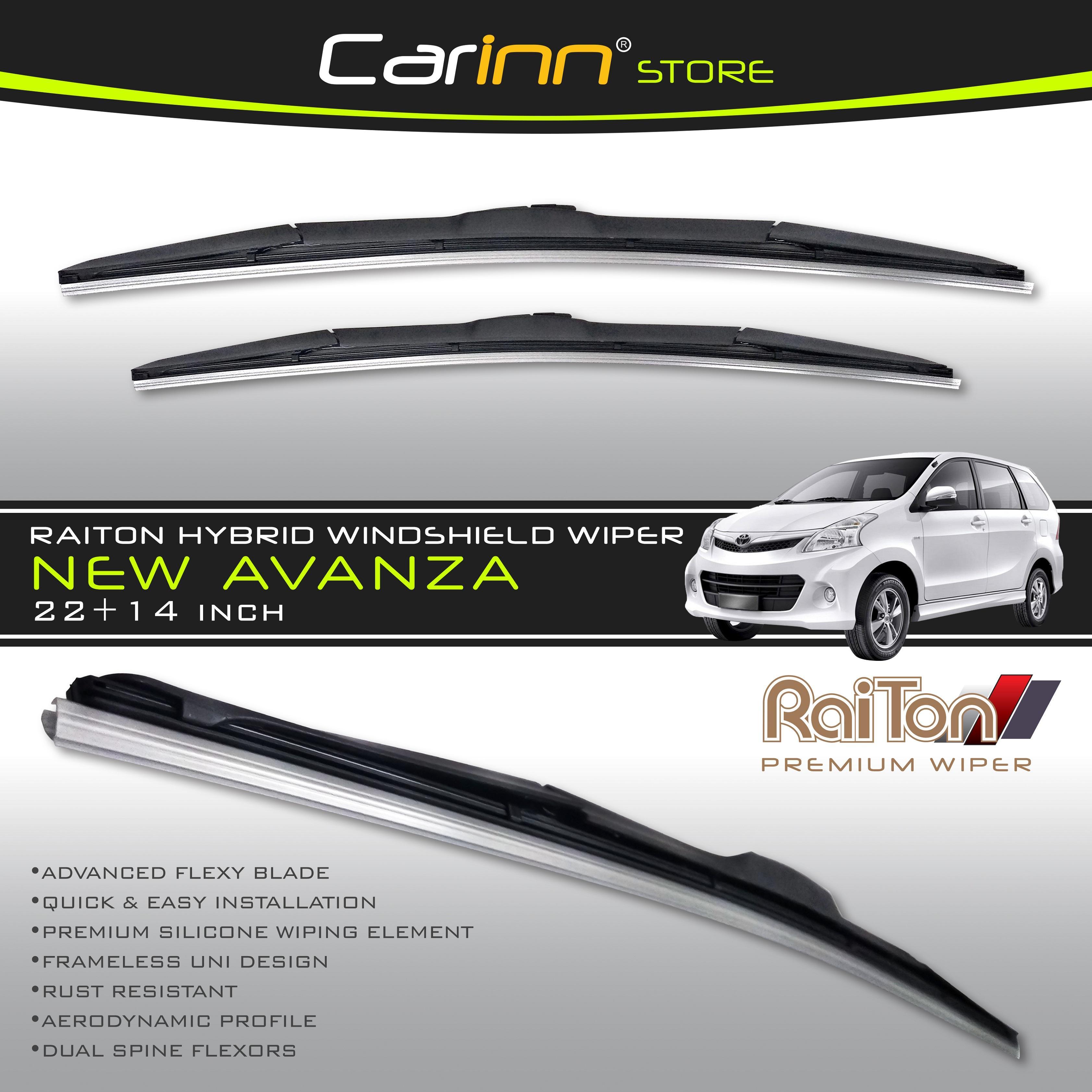 "Raiton Sepasang Wiper Hybrid Kaca Depan Mobil Toyota New Avanza 22"" & 14"" -"
