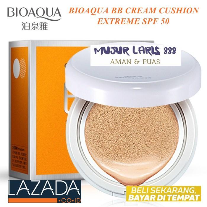 Terlaris BioAqua BB Cream Cushion Extreme Mengandung SPF 50 Shade Warna Ivory White 1 Buah