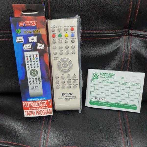 REMOTE TV TABUNG POLYTRON MERK BSW 508+ UNTUK TV POLYTRON SIDOARJO