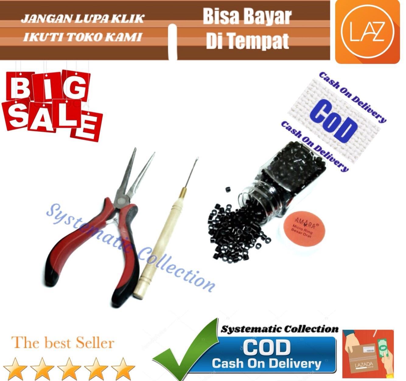 Amara Ring rambut sambung 1 paket ( Tang dan penjepit ) COD/Bisa bayar di tempat / Systematic Collection