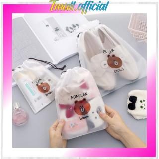 TMALL R080 Travel Organizer bag Kosmetik Makeup Make up Anti Air Pouch HP Wanita Import String thumbnail