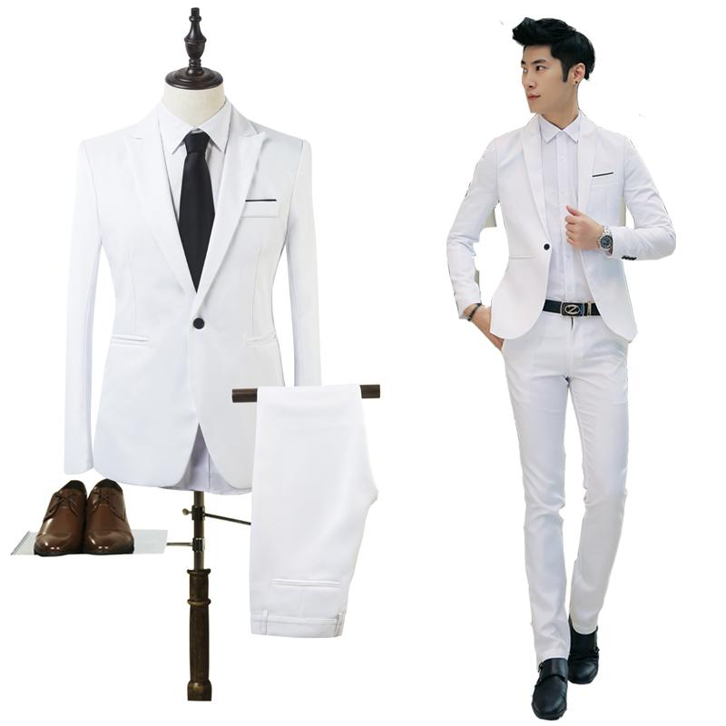 e510ae753cb Two Pieces Suit Set Men Wedding Suits Groom Tuxedos Suit