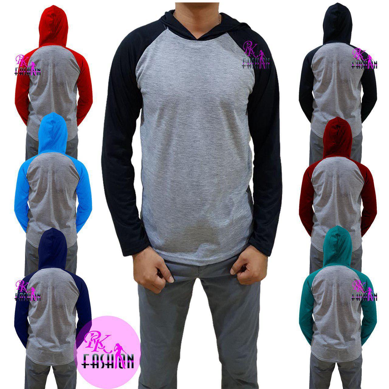 RK fashion |  kaos pria polos / kaos hoodie polos / kaos raglan hoodie polos lengan panjang