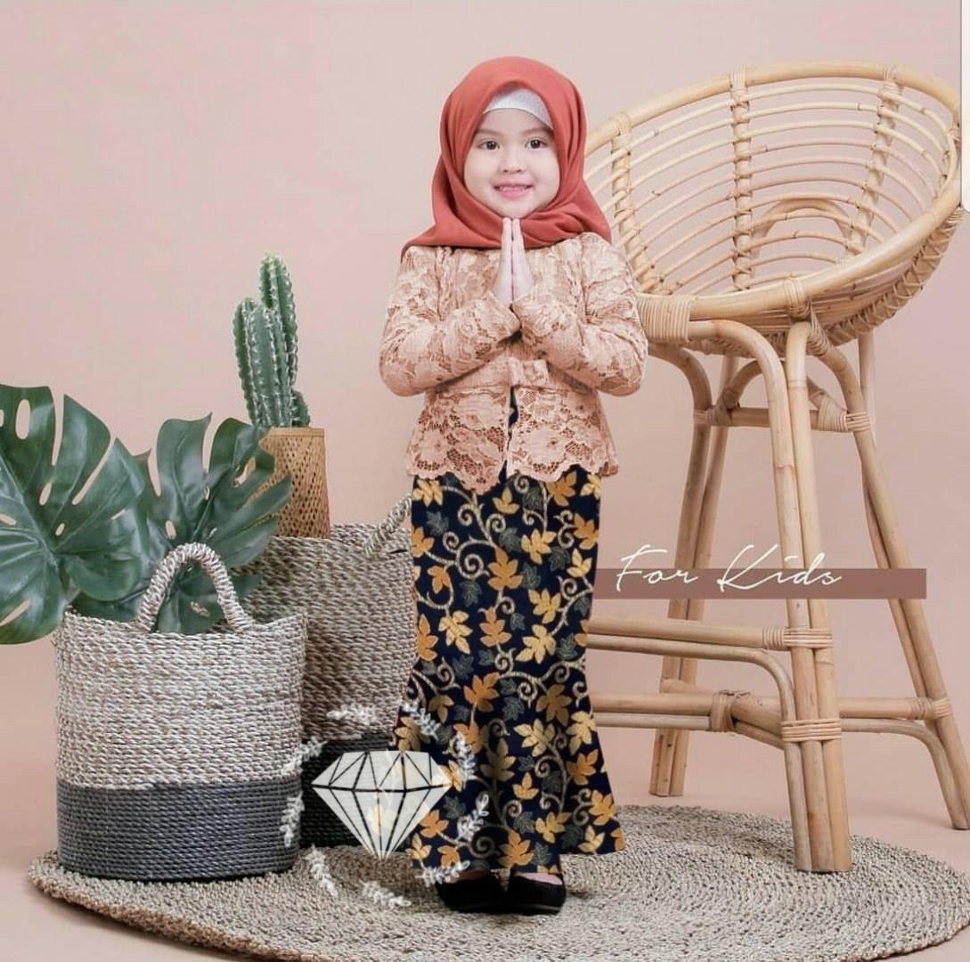 MCC03 - 28 Shireen Setelan Batik Anak / Baju Anak Perempuan / Kebaya Batik / Busana Anak Perempuan