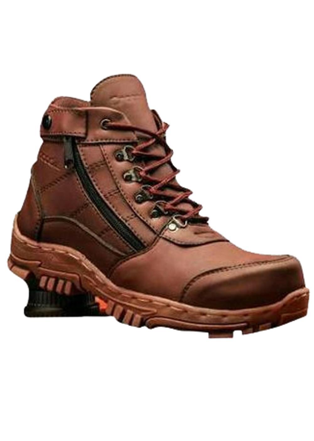 Sepatu boots pria Morissey resleting safety brown 7e358f289e