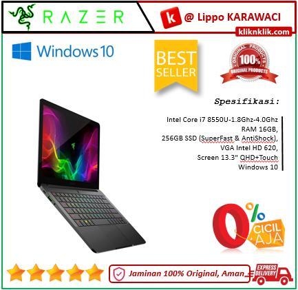RAZER Blade Stealth 13-8550U-16GB-256GB-Win10 Black