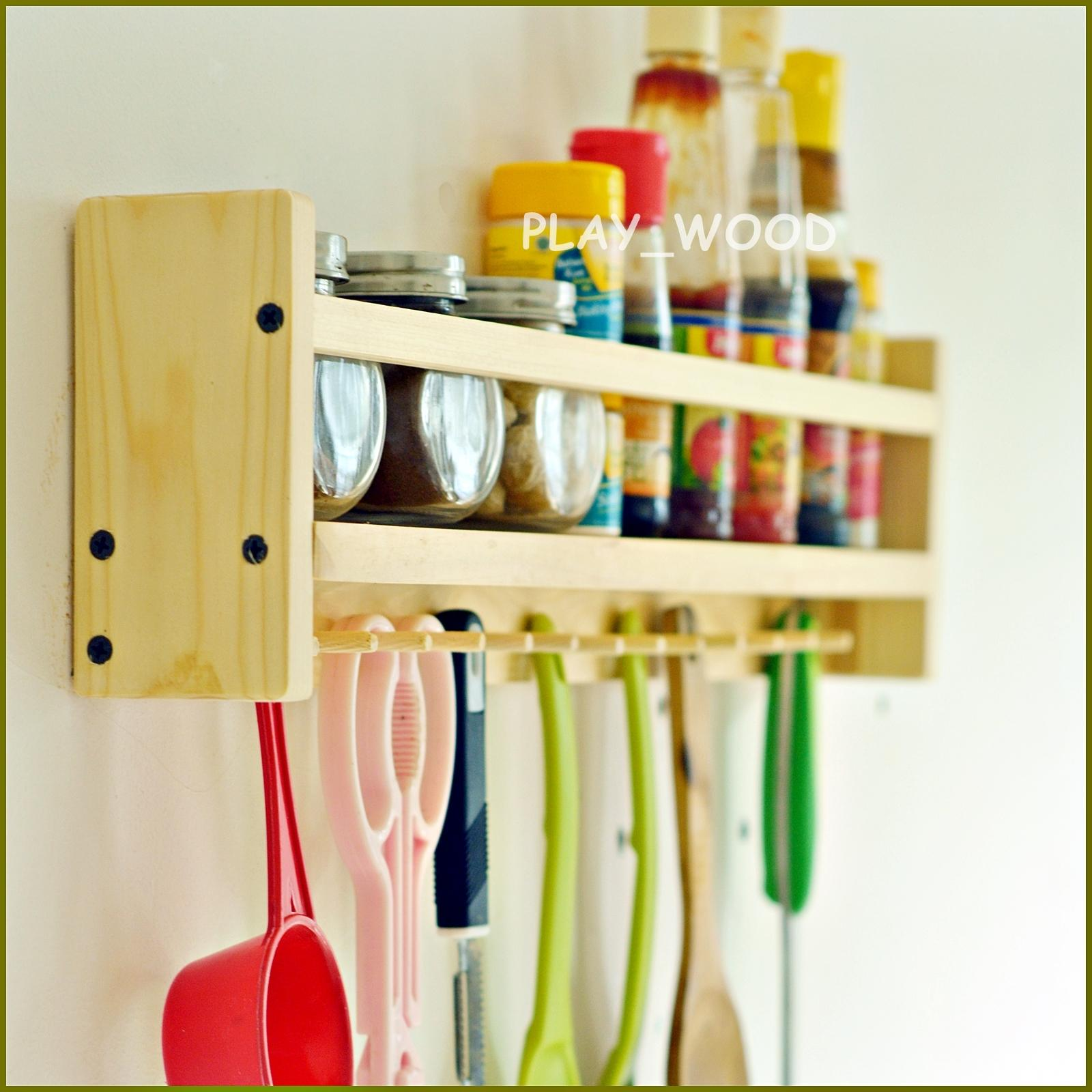 Rak Bumbu Dapur Kayu By Play_wood.