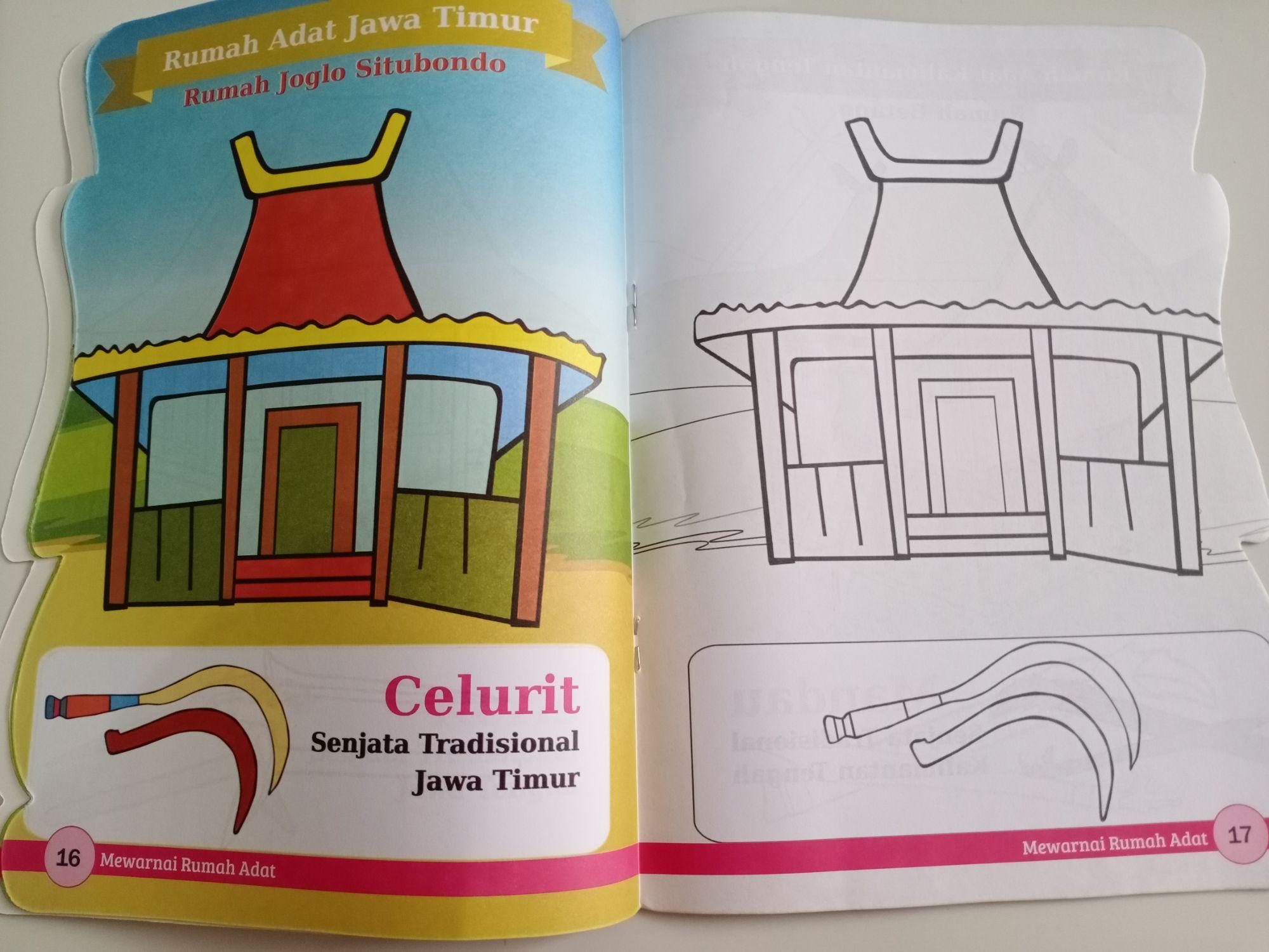 Buku Mewarnai Rumah Adat Daffa Media Lazada Indonesia