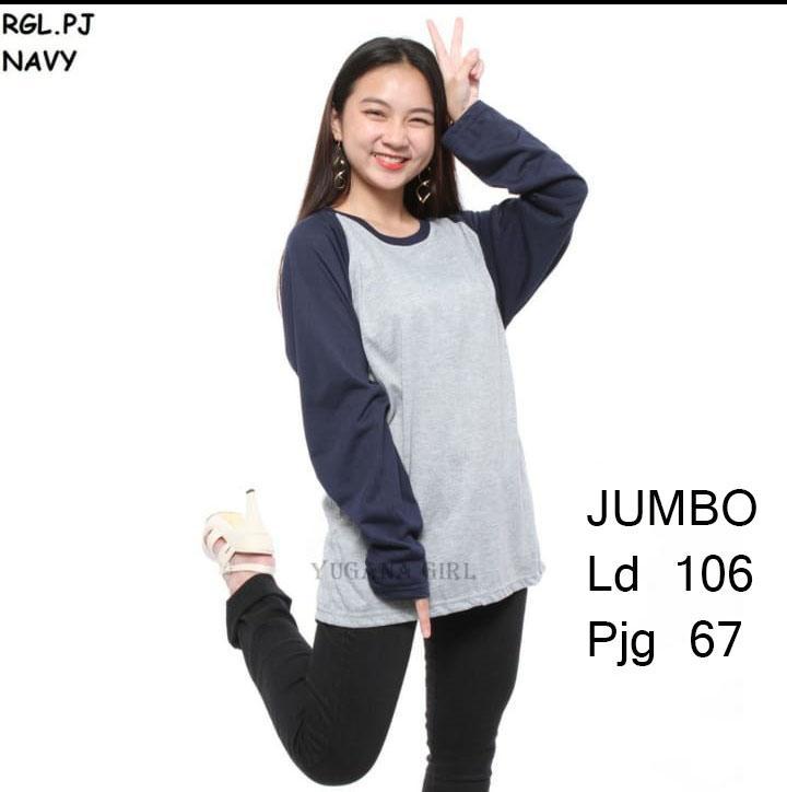 Myco Atasan wanita | Kaos Jumbo wanita | Kaos Raglan | Kaos lengan panjang | Raglan polos | Jumbo XXL