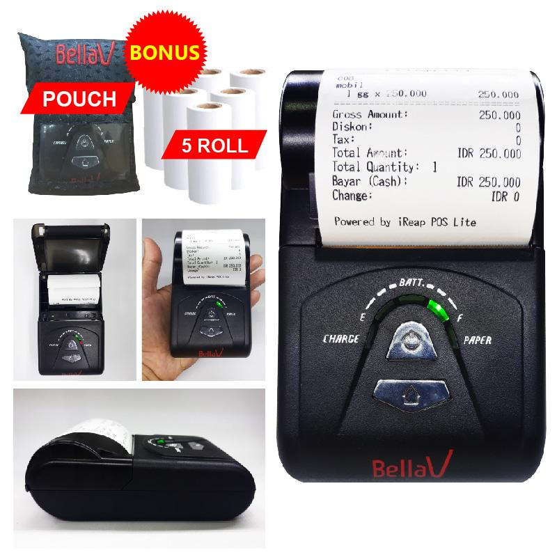 PRINTER BLUETOOTH THERMAL BELLAV ZCS 103 SUPPORT PAYTREN i REAP POS DLL + 5 ROLL KERTAS