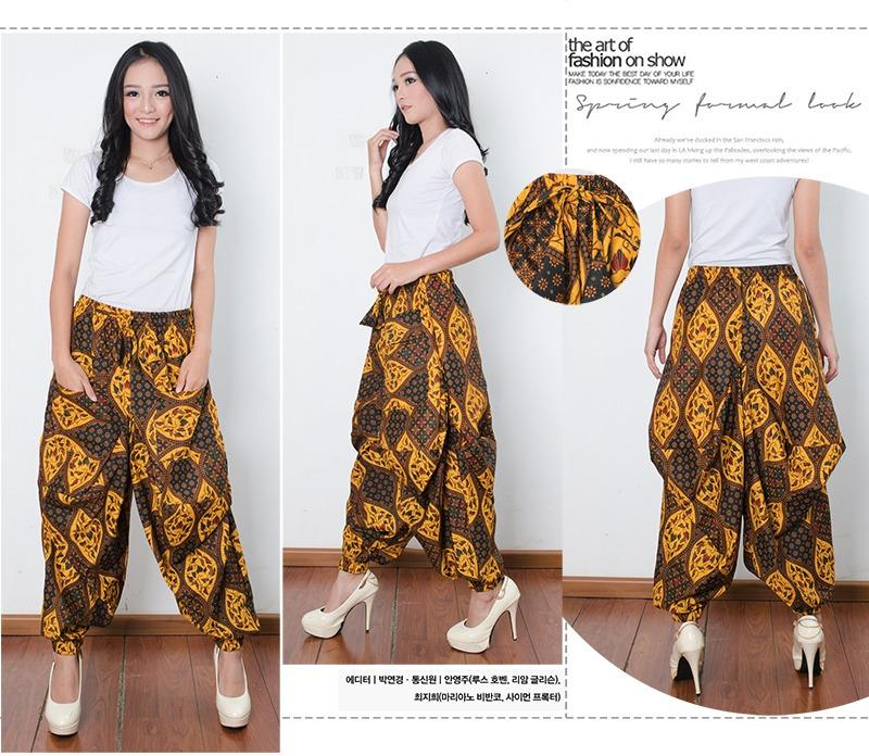 Cj collection Celana aladin batik panjang wanita jumbo long pant Arabel